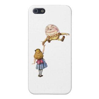 Alicia en el país de las maravillas y Humpty Dumpt iPhone 5 Carcasa