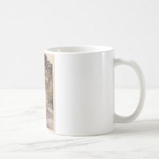 Alicia en el país de las maravillas y la tortuga taza de café