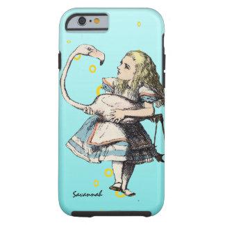 Alicia en el país de las maravillas y un flamenco funda resistente iPhone 6