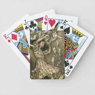 Alicia en el póker de Tejas Holdem Cartas De Juego