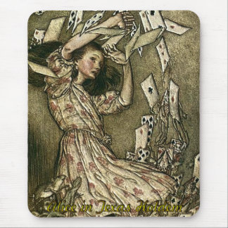 Alicia en el póker de Tejas Holdem Mouse Pad
