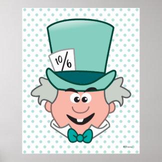 Alicia en el sombrerero enojado Emoji 3 del país Póster