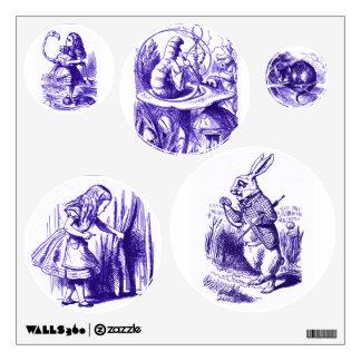 Alicia en etiquetas púrpuras de la pared del país vinilo
