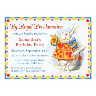 Alicia en fiesta de cumpleaños de encargo del país invitación 12,7 x 17,8 cm