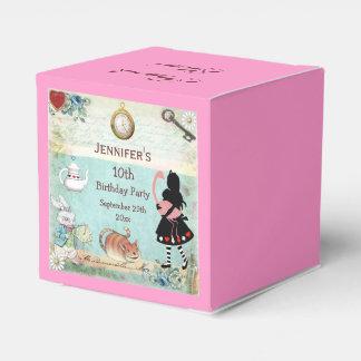 Alicia en fiesta de cumpleaños del país de las cajas para detalles de boda