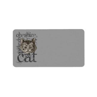 Alicia en Grunge del gato de Cheshire del país de  Etiquetas De Dirección