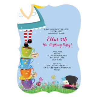 """Alicia en invitaciones de la fiesta de cumpleaños invitación 5"""" x 7"""""""