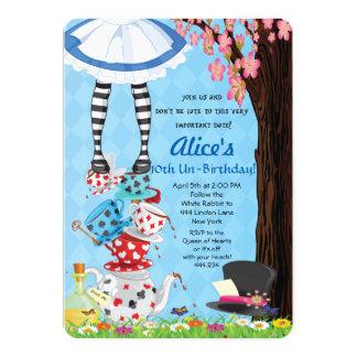 Alicia en invitaciones del país de las maravillas invitación 12,7 x 17,8 cm