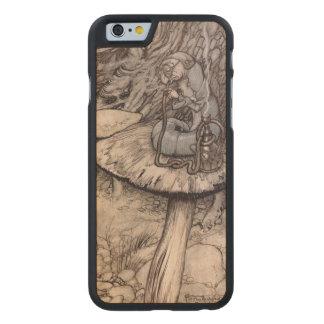 Alicia en la cachimba del país de las maravillas funda de iPhone 6 carved® slim de arce
