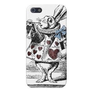 Alicia en la caja blanca del conejo del país de iPhone 5 funda