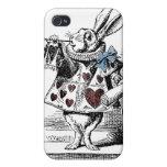 Alicia en la caja blanca del conejo del país de la iPhone 4 protector