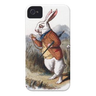 Alicia en la caja blanca del iPhone 4 del conejo d iPhone 4 Carcasa