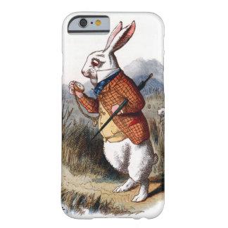 Alicia en la caja blanca del iPhone 6 del conejo