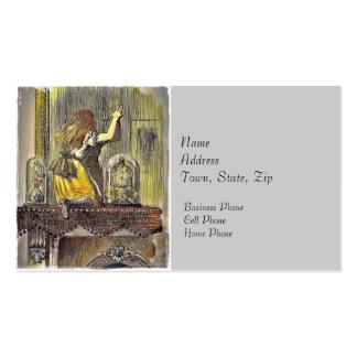 Alicia en la capa tarjetas de visita