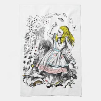 Alicia en la cubierta del país de las maravillas d toalla de mano