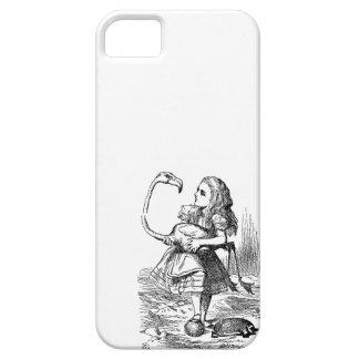 Alicia en la impresión del vintage del croquet del iPhone 5 Case-Mate carcasa
