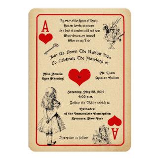 Alicia en la invitación del boda del país de las invitación 12,7 x 17,8 cm