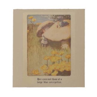 Alicia en la libreta 1907 del ejemplo del país de blocs de notas
