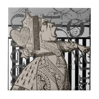 Alicia en la reina del país de las maravillas del  azulejo cuadrado pequeño