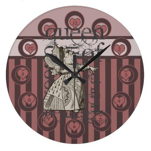 Alicia en la reina del país de las maravillas del  reloj redondo grande