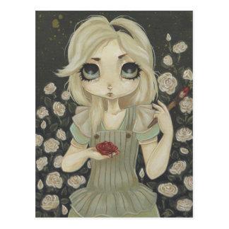 Alicia en los rosas de la pintura de la postal del