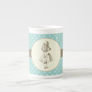 Alicia en lunares del país de las maravillas taza de porcelana