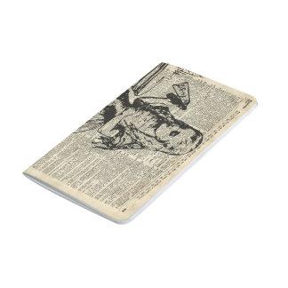 Alicia en plantilla del vintage del país de las cuadernos grapados
