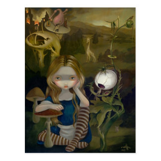 """""""Alicia en postal de un paisaje de Bosch"""""""