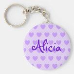 Alicia en púrpura llavero redondo tipo pin