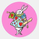 Alicia en rojo del corazón del conejo del pegatina