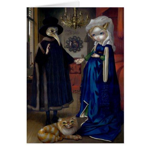 """""""Alicia en tarjeta de felicitación de Van Eyck Por"""