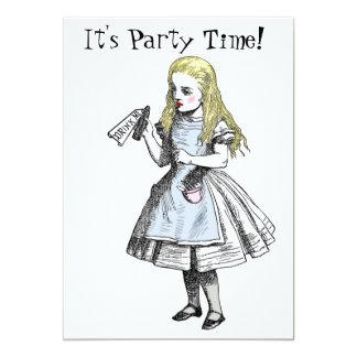 Alicia en tarjeta de la invitación del fiesta del invitación 12,7 x 17,8 cm
