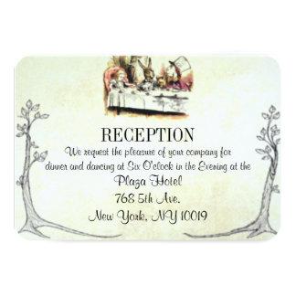 """Alicia en tarjeta de la recepción nupcial del país invitación 3.5"""" x 5"""""""