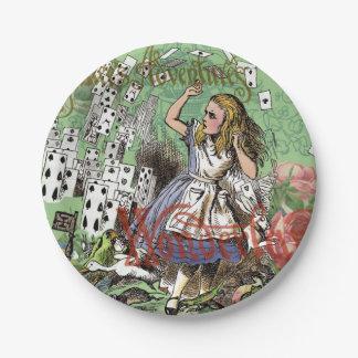 Alicia en tarjetas del vuelo del vintage de la plato de papel de 7 pulgadas