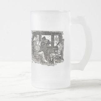 Alicia en tren taza de cristal