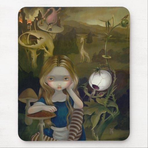 Alicia en un país de las maravillas Mousepad del p Alfombrilla De Ratón