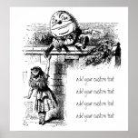 Alicia en Wondlerand, Humpty Dumpty con Alicia Poster