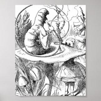 Alicia encuentra Caterpillar - a Alicia en el país Póster