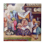 Alicia encuentra la duquesa y al bebé de la imagen tejas  cerámicas