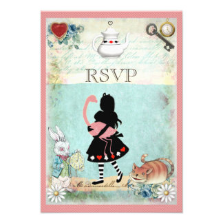 Alicia, flamenco y gato RSVP de Cheshire Comunicados
