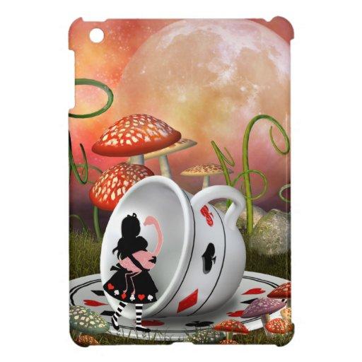 Alicia, flamenco y taza de té surrealistas iPad mini carcasas