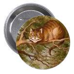 """Alicia - gato de Cheshire - 3"""" botón Pin"""