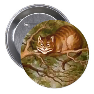 "Alicia - gato de Cheshire - 3"" botón"