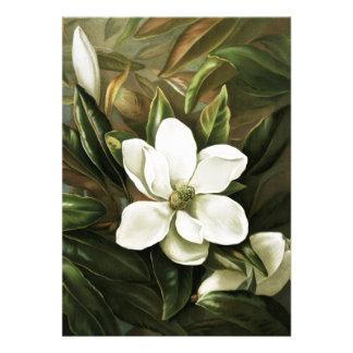 Alicia H Laird Magnolia Grandflora Invitaciones Personalizada