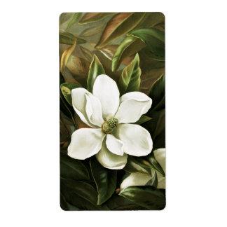 Alicia H. Laird: Magnolia Grandflora Label