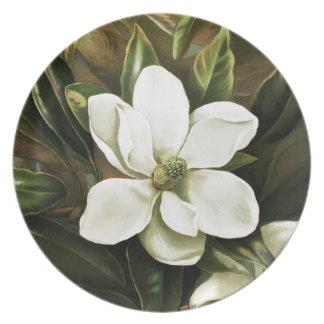 Alicia H. Laird: Magnolia Grandflora Melamine Plate
