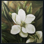 "Alicia H. Laird: Magnolia Grandflora Napkin<br><div class=""desc"">Beautiful vintage flower napkins,  painted by the American artist Alicia H. Laird.</div>"