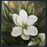 """Alicia H. Laird: Magnolia Grandflora Napkin<br><div class=""""desc"""">Beautiful vintage flower napkins,  painted by the American artist Alicia H. Laird.</div>"""