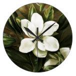 Alicia H. Laird: Magnolia Grandflora Reloj Redondo Grande