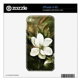 Alicia H Laird Magnolia Grandflora iPhone 4 Calcomanía